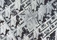"Le Corbusier:  ""Voisin"" Plan for Paris, 1922-25.  P. 206."