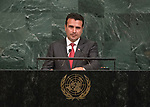 72 General Debate – 22 September <br /> <br /> by His Excellency Zoran Zaev, President of the Government of the former Yugoslav Republic of Macedonia