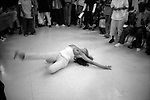 Femme Queen voguing, YMCA, Brooklyn, 2000. Photograph by Gerard H. Gaskin.