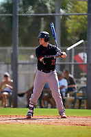 Omaha Mavericks Jack Johnson (25) bats during a game against the Dartmouth Big Green on February 23, 2020 at North Charlotte Regional Park in Port Charlotte, Florida.  Dartmouth defeated Omaha 8-1.  (Mike Janes/Four Seam Images)