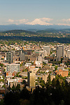 Aerial View of Southwest Portland Cityscape