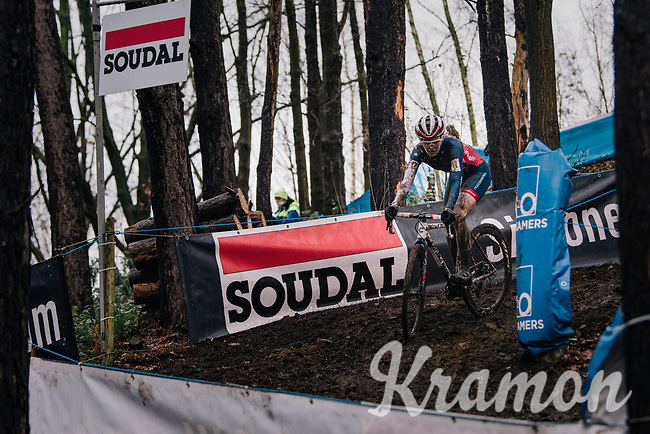 US Champ Clara Honsinger (USA/Cannondale-Cyclocrossworld)<br /> <br /> Women's race at the X2O Herentals Cross 2020 (BEL)<br /> <br /> ©kramon
