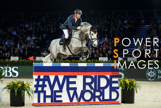Robert Smith of Great Britain riding Cimano E competes in the Longines Speed Challenge during the Longines Masters of Hong Kong at AsiaWorld-Expo on 10 February 2018, in Hong Kong, Hong Kong. Photo by Ian Walton / Power Sport Images
