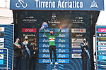 Race leader Tadej Pogacar (SLO) UAE Team Emirates also retains the mountains Maglia Verde at the end of Stage 5 of Tirreno-Adriatico Eolo 2021, running 205km from Castellalto to Castelfidardo, Italy. 14th March 2021. <br /> Photo: LaPresse/Gian Mattia D'Alberto | Cyclefile<br /> <br /> All photos usage must carry mandatory copyright credit (© Cyclefile | LaPresse/Gian Mattia D'Alberto)