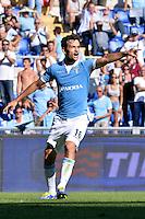 Marco Parolo Lazio.<br /> Roma 14-09-2014 Stadio Olimpico. Football Calcio 2014/2015 Serie A. Lazio - Cesena. Foto Antonietta Baldassarre / Insidefoto