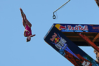 12th June 2021, Saint-Raphaël, Provence-Alpes-Côte d'Azur, France; Red Bull Cliff Diving competition;  Eleanor SMART (USA)