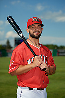 Batavia Muckdogs Michael Hernandez (29) poses for a photo before a NY-Penn League game against the West Virginia Black Bears on June 26, 2019 at Dwyer Stadium in Batavia, New York.  Batavia defeated West Virginia 4-2.  (Mike Janes/Four Seam Images)