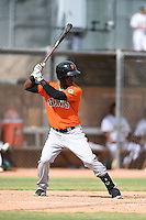 San Francisco Giants shortstop Kelvin Beltre (17) during an Instructional League game against the Oakland Athletics on October 15, 2014 at Papago Park Baseball Complex in Phoenix, Arizona.  (Mike Janes/Four Seam Images)