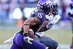 TCU Horned Frogs wide receiver Cameron Echols-Luper (15) in action during the game between the Texas Tech Red Raiders and the TCU Horned Frogs at the Amon G. Carter Stadium in Fort Worth, Texas. TCU defeats Texas Tech 82 to 27.