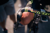apparently it was a bloody stage for Sam Bewley (NZL/Mitchelton-Scott)<br /> <br /> Stage 10: Annecy > Le Grand-Bornand (159km)<br /> <br /> 105th Tour de France 2018<br /> ©kramon