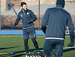 St Johnstone Training…08.12.17<br />Richie Foster limbers-up at McDiarmid Park today during training ahead of tomorrow's game at Hamilton<br />Picture by Graeme Hart.<br />Copyright Perthshire Picture Agency<br />Tel: 01738 623350  Mobile: 07990 594431