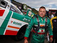 Jul 23, 2017; Morrison, CO, USA; NHRA funny car driver Jim Campbell during the Mile High Nationals at Bandimere Speedway. Mandatory Credit: Mark J. Rebilas-USA TODAY Sports