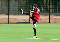 Tuesday 15 January 2013<br /> Pictured: Michu<br /> Re: Swansea City FC training near the Liberty Stadium ahead of their Cup game against Arsenal at the Emirates Stadium.