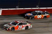 #20: Erik Jones, Joe Gibbs Racing, Toyota Camry Sport Clips, #00: Quin Houff, StarCom Racing, Chevrolet Camaro Permatex