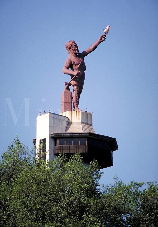 Statue of Vulcan in Birmingham, Alabama. Birmingham Alabama United States.