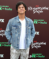 """TULSA, OK - AUGUST 2: Dalton Cramer attends the Red Carpet Event for the Series Premiere of FX's """"Reservation Dogs"""" at Circle Cinema on August 2, 2021 in Tulsa, Oklahoma. (Photo by Tom Gilbert/FX/PictureGroup)"""