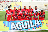 TUNJA -COLOMBIA-23-ABRIL-2016. Formación de Patriotas FC contra Jaguares FC durante partido por la fecha 14 de Liga Águila I 2016 jugado en el estadio La Independencia./ Team of Patriotas FC  agaimst Jaguares FC during the match for the date 14 of the Aguila League I 2016 played at La Independencia stadium in Tunja. Photo: VizzorImage / César Melgarejo  / Contribuidor