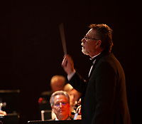 John Parkinson conducts the Lake County Symphony Orchestra at the Soper Reese Community Theater, Lakeport, Lake County, California