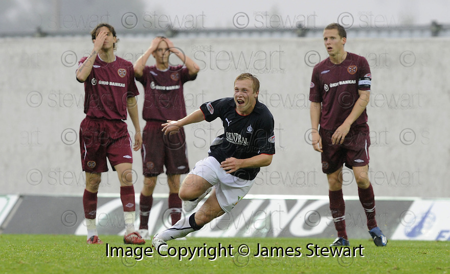 13/09/2008  Copyright Pic: James Stewart.File Name : sct_jspa08_falkirk_v_hearts.SCOTT ARFIELD CELEBRATES AFTER HE SCORES FALKIRK'S SECOND.James Stewart Photo Agency 19 Carronlea Drive, Falkirk. FK2 8DN      Vat Reg No. 607 6932 25.James Stewart Photo Agency 19 Carronlea Drive, Falkirk. FK2 8DN      Vat Reg No. 607 6932 25.Studio      : +44 (0)1324 611191 .Mobile      : +44 (0)7721 416997.E-mail  :  jim@jspa.co.uk.If you require further information then contact Jim Stewart on any of the numbers above........