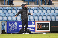 An animated Harry Kewell in the technical areaduring Colchester United vs Oldham Athletic, Sky Bet EFL League 2 Football at the JobServe Community Stadium on 3rd October 2020