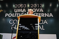 """SÃO BERNARDO DO CAMPO, 18.07.2013 - LULA / CONFERÊNCIA - ex-presidente da República Luiz Inácio Lula da Silva durante encerramento da Conferência Nacional """"2003 - 2013: Uma nova política externa"""", na Universidade Federal do ABC (UFABC) em São Bernardo do Campo, nesta quinta-feira, 18. (Foto: Adriano Lima / Brazil Photo Press)."""