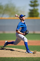 Kansas City Royals pitcher Matt Tenuta (66) during an Instructional League game against the Texas Rangers on October 4, 2016 at the Surprise Stadium Complex in Surprise, Arizona.  (Mike Janes/Four Seam Images)