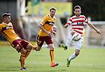 Hamilton's Tony Andreu breaches the Motherwell defence