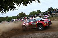 5th June 2021; Monte Acuto, Sardinia; WRC rally of Italia Sardinia; Mads Otsberg-Citroen C3 WRC2