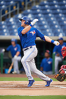 GCL Blue Jays third baseman Mitch Nay (62) at bat during a game against the GCL Phillies on August 16, 2016 at Bright House Field in Clearwater, Florida.  GCL Blue Jays defeated GCL Phillies 2-1.  (Mike Janes/Four Seam Images)
