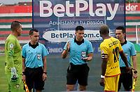TULUA-COLOMBIA, 07-10-2020: Boca Juniors de Cali y Bogota F.C., durante partido por la fecha 11 del Torneo BetPlay DIMAYOR I 2020 en el estadio Doce de Octubre de la ciudad de Tulua. / Boca Juniors de Cali and Bogota F.C., during a match for the 11th  date of the BetPlay DIMAYOR I 2020 tournament at the Doce de Octubre de stadium in Tulua city. / Photo: VizzorImage / Juan Jose Horta / Cont.
