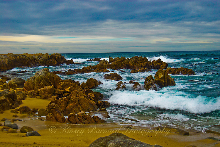 """""""OCEAN BOULEVARD""""<br /> <br /> After the storm the waves settling down in a moody seascape near Monterey"""