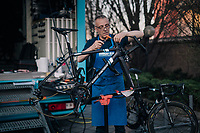 AG2R-LaMondiale mechanics at work ahead of the110th Milano-Sanremo 2019 (ITA)<br /> One day race from Milano to Sanremo (291km)<br /> <br /> ©kramon