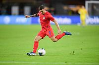 WASHINGTON, D.C. - OCTOBER 11: Paul Arriola #7 of the United States passes off the ball during their Nations League game versus Cuba at Audi Field, on October 11, 2019 in Washington D.C.