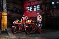 Marc Marquez, Pol Espargaro <br /> 10/02/2021 Repsol Honda MotoGp Team <br /> Photo Honda Press Office / Insidefoto <br /> EDITORIAL USE ONLY
