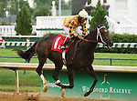 Right To Vote and Shaun Bridgmohan win the Kelly's Landing $65,000 stakes for trainer Ron Moquett and owner B J D Thoroughbreds at Churchill Downs.  June 29, 2013.