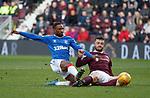 26.01.2020 Hearts v Rangers: Jermain Defoe and Craig Halkett