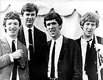 Spencer Davis Group 1965 National Jazz & Blues Festival Steve Winwood, Pete York, Muff Winwood and Spencer Davis<br /> © Chris Walter