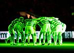 Celtic v St Johnstone…30.01.19…   Celtic Park    SPFL<br />The Celtic huddle in green<br />Picture by Graeme Hart. <br />Copyright Perthshire Picture Agency<br />Tel: 01738 623350  Mobile: 07990 594431