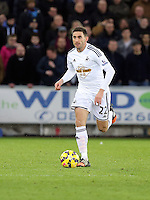 Pictured: Angel Rangel of Swansea Saturday 10 January 2015<br /> Re: Barclays Premier League, Swansea City FC v West Ham United at the Liberty Stadium, south Wales, UK