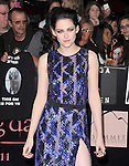 Kristen Stewart  attends The Los Angeles premiere of Summit Entertainment's THE TWILIGHT SAGA: BREAKING DAWN PART 1 HELD AT Nokia Theatre at L.A. Live in Los Angeles, California on November 14,2011                                                                               © 2010 DVS / Hollywood Press Agency
