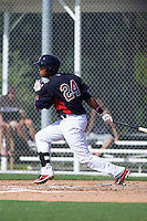 Minnesota Twins Amaurys Minier (24) during an instructional league game against the Boston Red Sox on September 26, 2015 at CenturyLink Sports Complex in Fort Myers, Florida.  (Mike Janes/Four Seam Images)