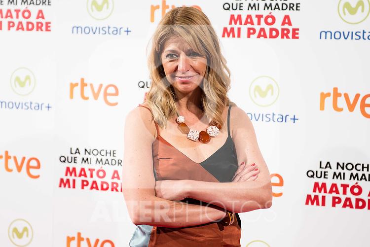 """The director of the Film Ines Paris Bouza during the presentation of the spanish film """"La noche que mi Madre mato a mi Padre"""" at Palacio de la Prensa in Madrid. April 27,2016. (ALTERPHOTOS/Borja B.Hojas)"""