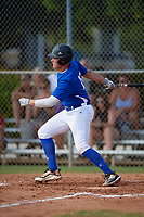 Matthew Ossenfort (10) during the WWBA World Championship at Terry Park on October 11, 2020 in Fort Myers, Florida.  Matthew Ossenfort, a resident of Sioux Falls, South Dakota who attends Sioux Falls Christian High School.  (Mike Janes/Four Seam Images)