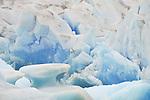 Close up view of the Viedma Glacier in Los Glaciares National Park in Argentina.