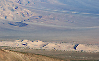 View of Panamint Valley sand dunes from South Pass, near Hunter Mountain. Death Valley National Park, California