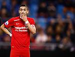 Nederland, Arnhem, 18 december 2015<br /> Eredivisie<br /> Seizoen 2015-2016<br /> Vitesse-FC Twente<br /> Een treurig kijkende Hakim Ziyech, aanvoerder van FC Twente