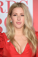 Ellie Goulding<br /> arriving for the BRIT Awards 2018 at the O2 Arena, Greenwich, Leicester Square, London<br /> <br /> ©Ash Knotek  D3383  21/02/2018<br /> <br /> *photos for editorial use only in connection with the BRITs*