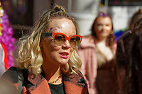 Pictured: Eastenders actress Charlie Brooks. Saturday 04 May 2019<br /> Re: Swansea Pride Parade in south Wales, UK.