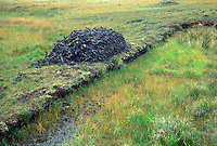 Peat bog - peat extraction