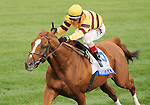 """October 04, 2014: Wise Dan and jockey John Velazquez win the 29th running of the Shadwell Turf Mile Grade 1 """"Win and You're In Mile Division"""" $1,000,000 at Keeneland Racecourse for owner Morton Fink and trainer Charles LoPresti .  Candice Chavez/ESW/CSM"""